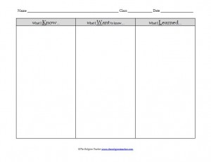photograph about Free Printable Kwl Chart known as KWL-chart
