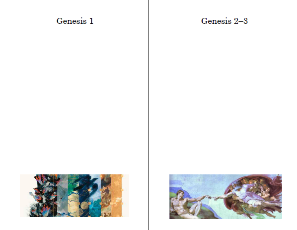 Genesis Creation Stories Lesson Plan
