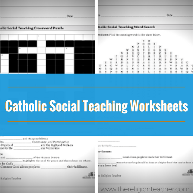 Catholic Social Teaching Crossword Puzzle and Word Search