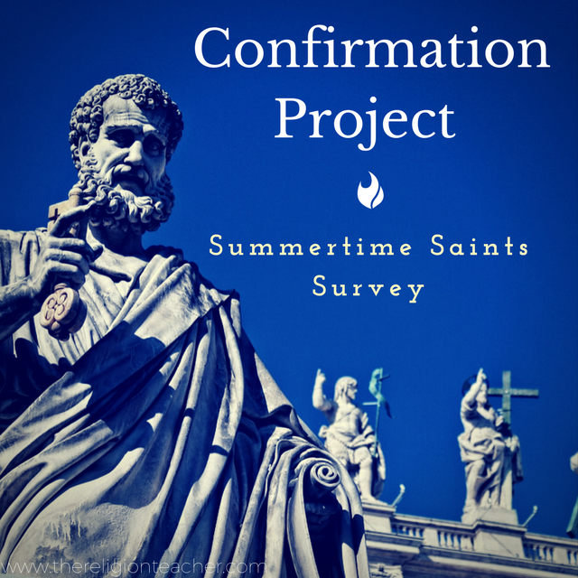 Confirmation Saint Research Project